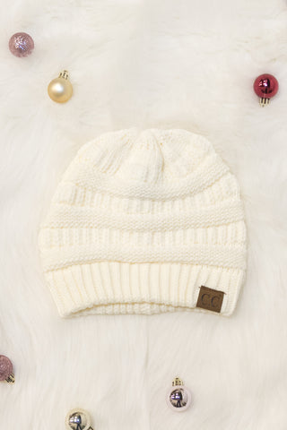 All Winter Long Beanie in Cream