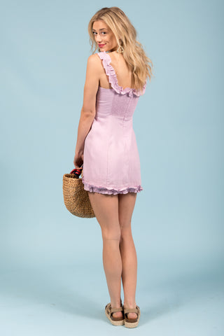 Cotton Candy Cloud Dress in Orchid