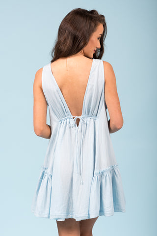 Sweeter Than Candy Dress in Chambray