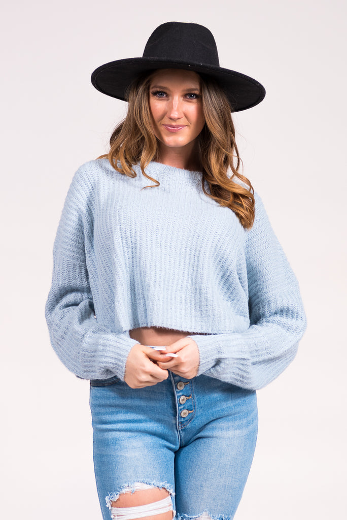 Canyon Moon Sweater in Chambray