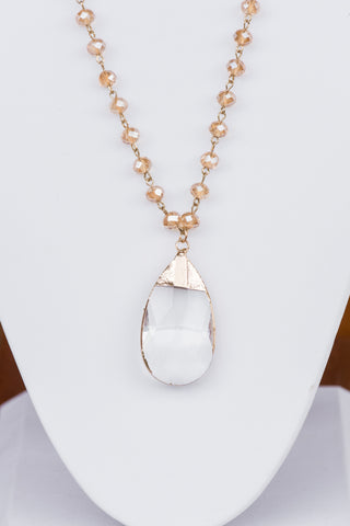 Amy Necklace in Tear Drop Crystal