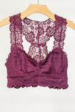 Lace Elegance Bralette in Burgundy