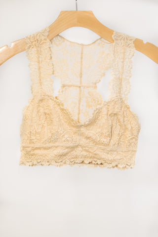 Lace Elegance Bralette in Sand