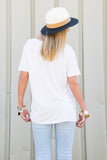 Piko Short Sleeve in Off White (V-Neck)