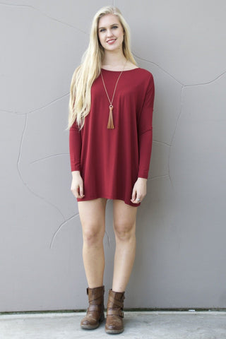 Piko Perfect Dress in Wine