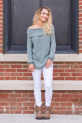 A Million Dreams Sweater in Sage