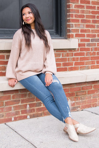 Take Courage Sweater in Dusty Pink