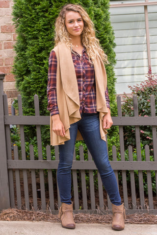Charlotte Cardigan in Camel