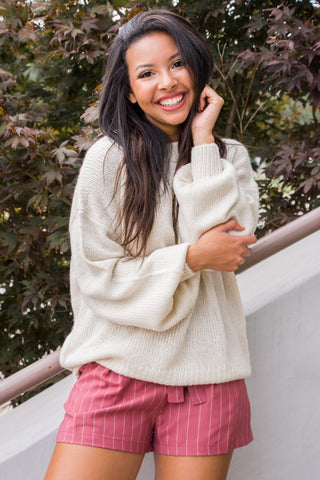 Take Courage Sweater in Cream