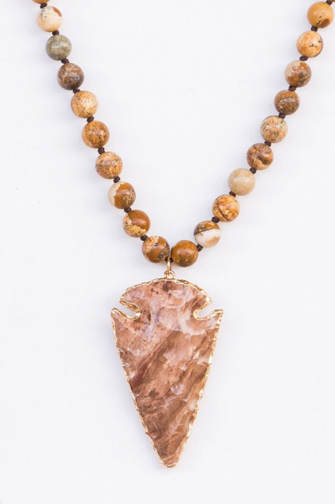 Lauren Necklace in Sandstone