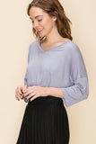 Habitual Heaven Top in Gray Lilac