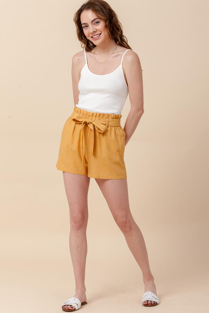 Hudson River Line Shorts in Mustard