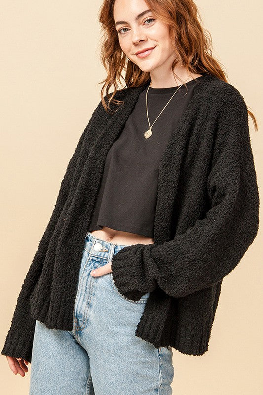 Home Stretch Cardigan in Black
