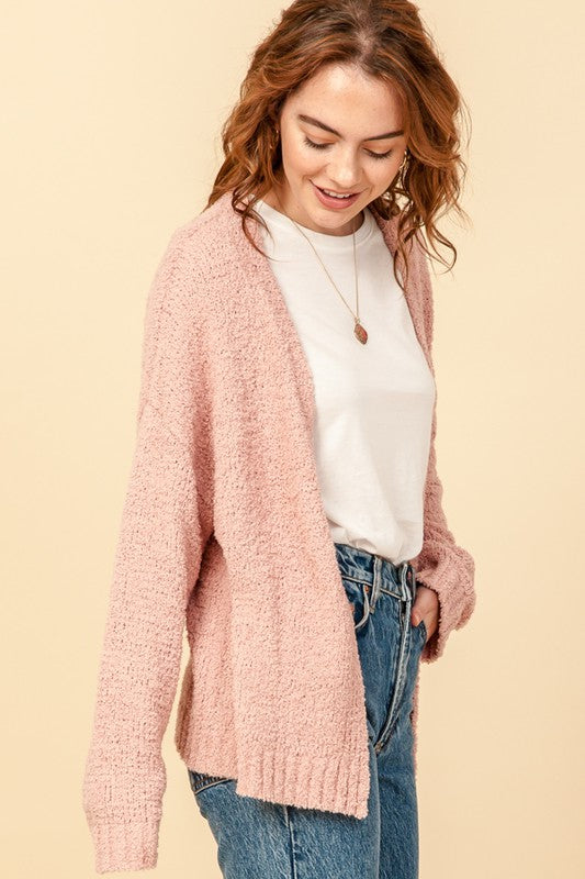 Home Stretch Cardigan in Misty Rose