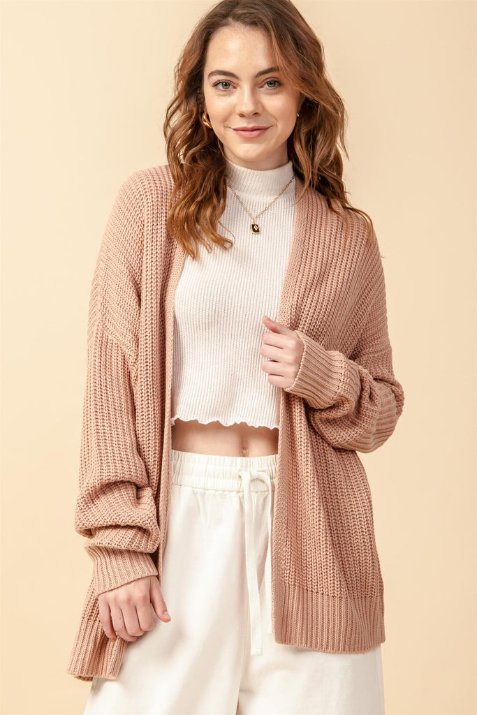 Spell On You Cardigan in Misty Rose