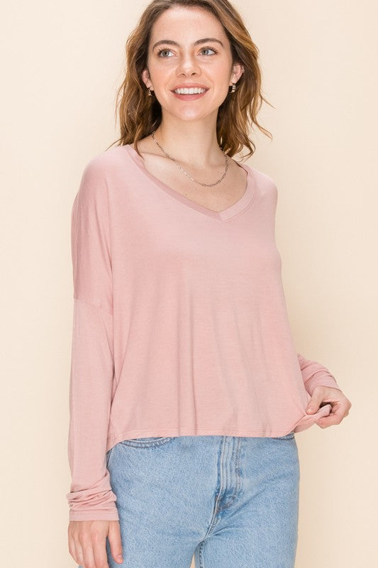 Midnight Sky Top in Misty Rose
