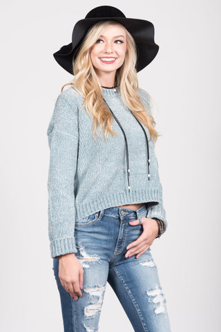 Better Together Sweater in Blue Mist