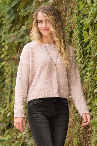 Better Together Sweater in Dusty Pink