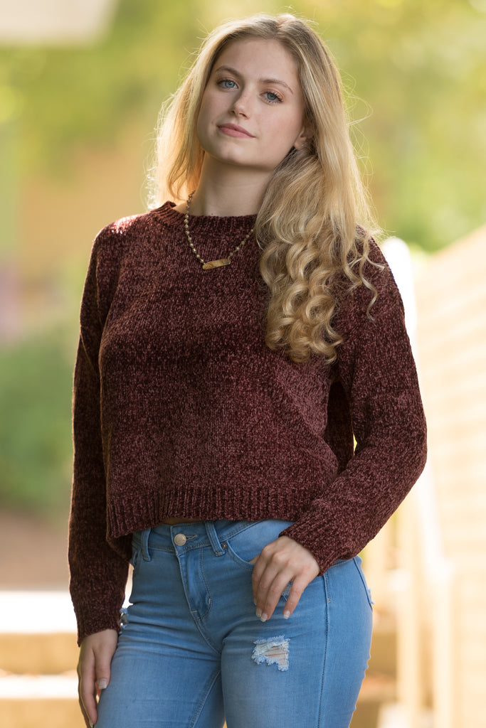 Better Together Sweater in Marsala