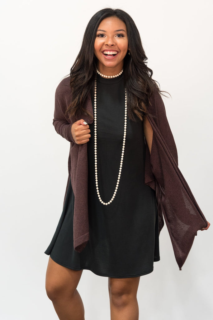 Nightfall Cardigan in Marsala