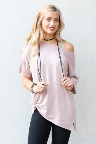 Concrete Jungle Top in Dusty Pink