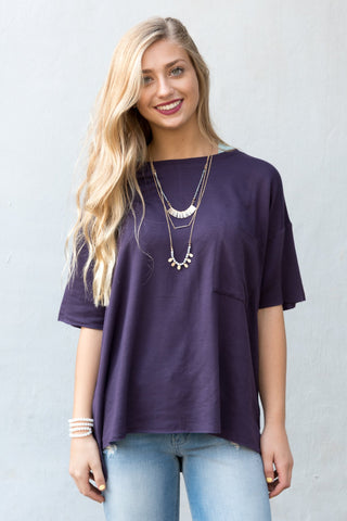 Concrete Jungle Top in Deep Purple
