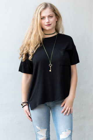 Concrete Jungle Top in Black