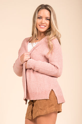 Starlight Cardigan in Dusty Pink