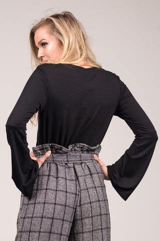 Bells and Whistles Top in Black