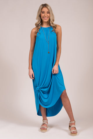 Sunset Seasons Dress in Malibu Blue