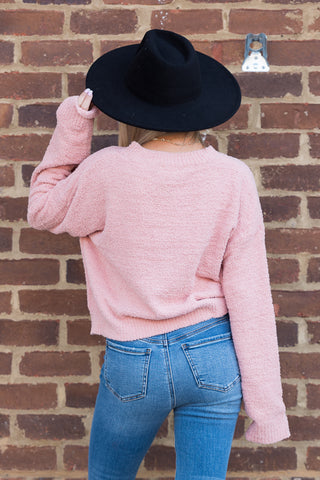 Take You Dancing Sweater in Misty Rose