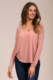 Stubborn Love Top in Misty Rose