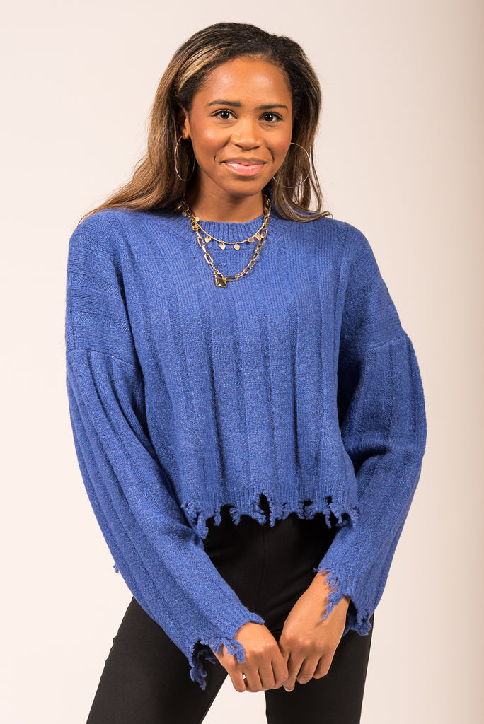 All the Right Reasons Sweater in Indigo