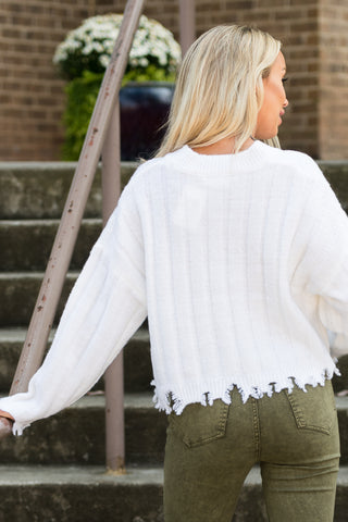 All the Right Reasons Sweater in Cream