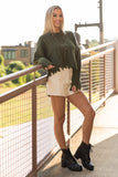 All the Right Reasons Sweater in Olive