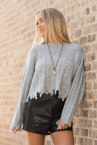 All the Right Reasons Sweater in Heather Grey