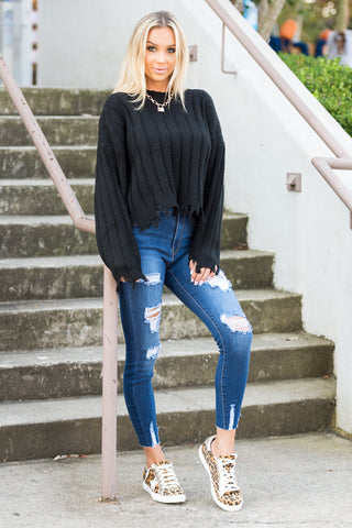 All the Right Reasons Sweater in Black