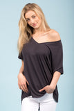 Sweetest Devotion Top in Charcoal