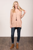 Always Dreaming Sweater in Dusty Pink