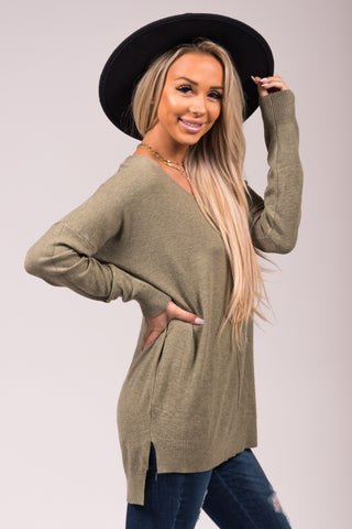 Always Dreaming Sweater in Olive