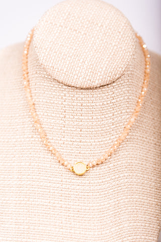 Lizzie Necklace in Blush