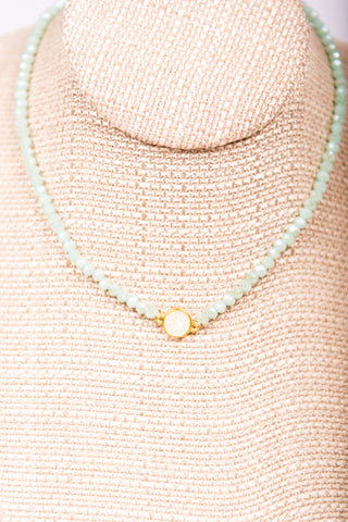 Lizzie Necklace in Mint