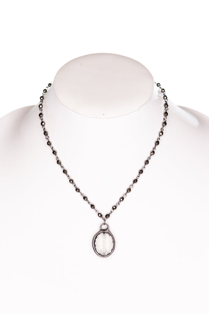 Ariel Necklace in Hematite