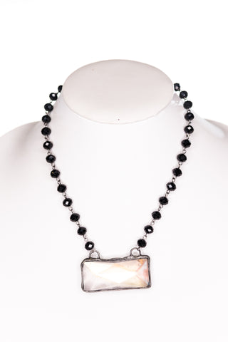 Astrid Necklace in Black