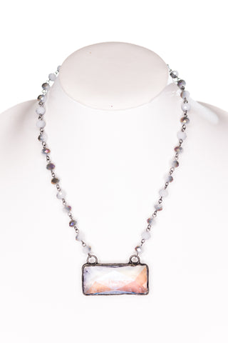 Astrid Necklace in Grey