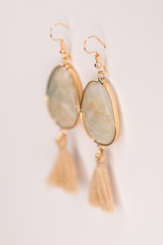 Betty Earrings in Amazonite