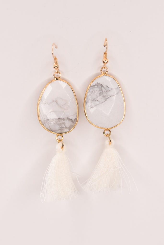 Betty Earrings in White