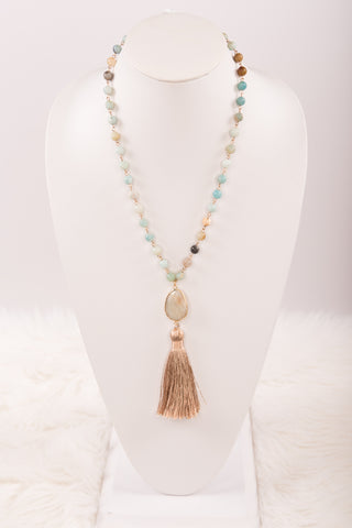 Betty Necklace in Amazonite