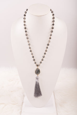 Betty Necklace in Gray