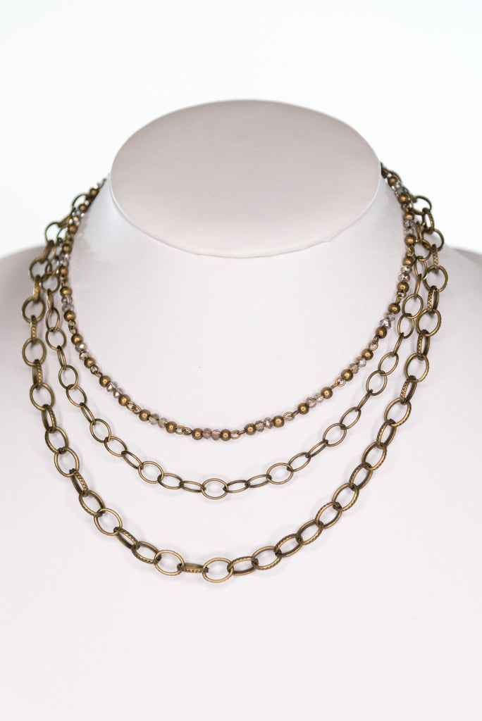 Cybil Necklace in Bronze